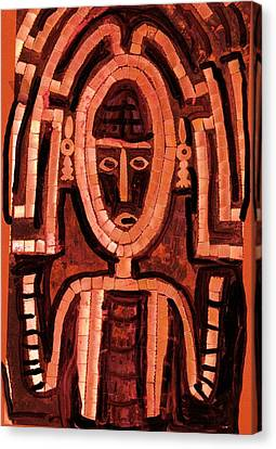 Melanesian Icon Canvas Print by Anne-Elizabeth Whiteway