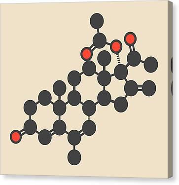 Melengestrol Hormone Molecule Canvas Print by Molekuul
