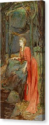 Melisande Canvas Print by Henry Meynell Rheam