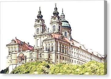 Melk Abbey In Lower Austria Canvas Print