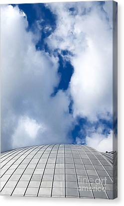 Mellon Arena On A Cloudy Day Canvas Print by Amy Cicconi