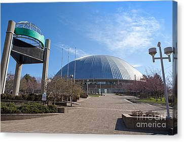 Mellon Arena Pittsburgh Pa Canvas Print by Sharon Dominick