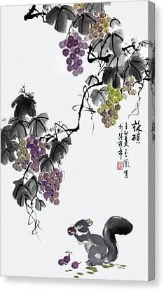 Canvas Print featuring the painting Melody Of Life II by Yufeng Wang