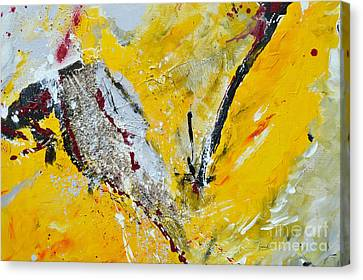 Canvas Print featuring the painting Melody Of Passion by Ismeta Gruenwald