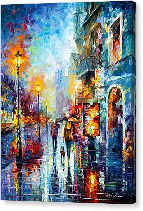 Melody Of Passion Canvas Print by Leonid Afremov