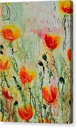 Melody Of Spring- Flower Canvas Print by Ismeta Gruenwald