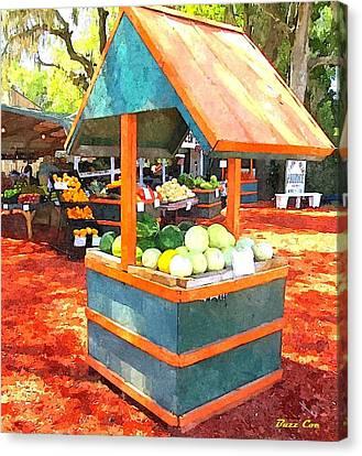 Melon Bin Canvas Print by Buzz  Coe