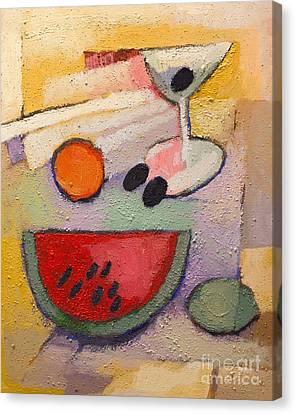 Melon Martini Canvas Print by Lutz Baar