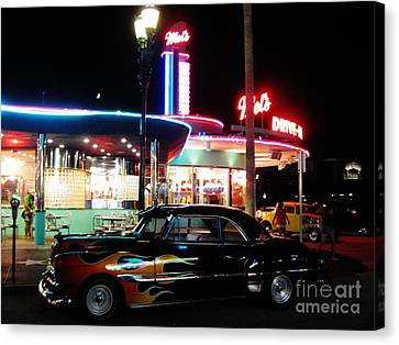 Mels Diner Number Three Canvas Print by John Malone