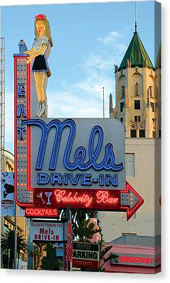 Mel's Drive In Canvas Print by Bill Jonas