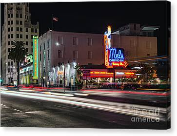 Mel's Drive-in Canvas Print by Eddie Yerkish