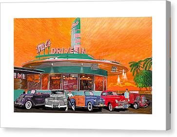 Mels Drive In San Francisco 2nd Gen Canvas Print by Jack Pumphrey
