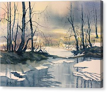 Melt Water On Skipwith Common Canvas Print