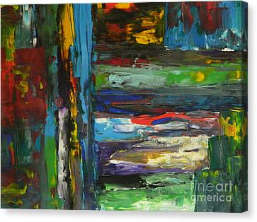 Canvas Print featuring the painting Melted Crayons by Everette McMahan jr