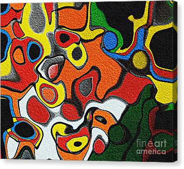 Melted Rubiks Cube Canvas Print by Andee Design
