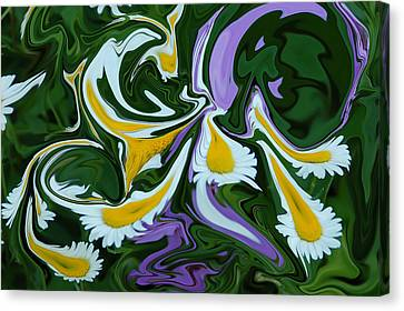 Canvas Print featuring the photograph Melting Daisies by Aimee L Maher Photography and Art Visit ALMGallerydotcom