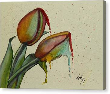 Melting Tulips Canvas Print