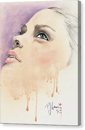 Melting Youthful Beauty Canvas Print by P J Lewis