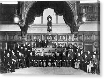 Members Of Sf Stock Exchange Canvas Print