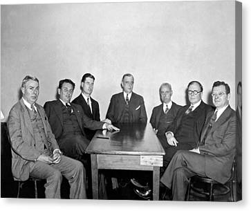 Members Of The Nra Board Canvas Print by Underwood Archives