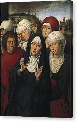 Memling, Hans 1433-1494. The Weeping Canvas Print by Everett