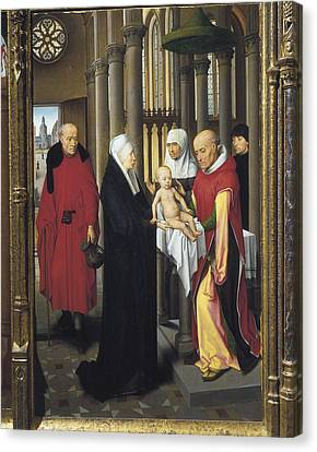 Memling, Hans 1433-1494. Triptych Canvas Print by Everett