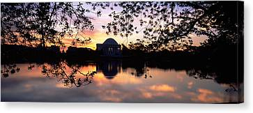 Memorial At The Waterfront, Jefferson Canvas Print by Panoramic Images