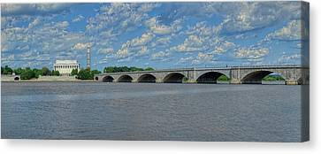 Memorial Bridge After The Storm Canvas Print by Metro DC Photography