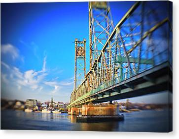 Memorial Bridge, Portsmouth, New Canvas Print