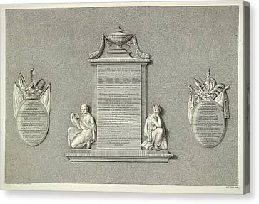 Memorial Canvas Print by British Library