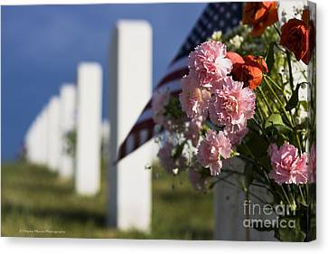 Memorial Day Beauty In The Sacrifice Canvas Print
