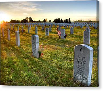 Memorial Day Fort Snelling National Cemetery Canvas Print