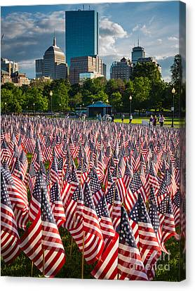 Memorial Day In Boston Canvas Print by Inge Johnsson