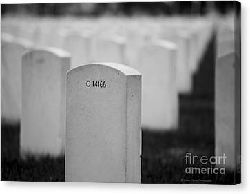 Memorial Day We Will Not Forget You. Canvas Print