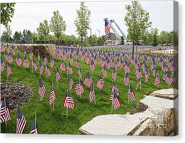 Memorial Flags Canvas Print by Keith Ducker