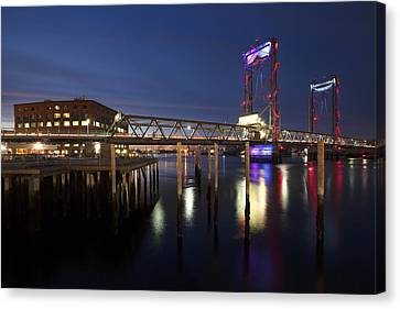 Memorial Lightshow Canvas Print