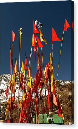 Tibetan Canvas Print - Memorial Of Baba Harbhajn Singh by Jaina Mishra