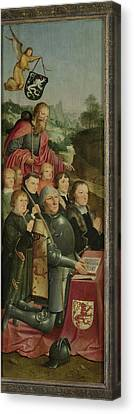 Family Crest Canvas Print - Memorial Panel With Eight Male Portraits by Litz Collection