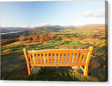 Park Benches Canvas Print - Memorial Seat On Orrest Head by Ashley Cooper