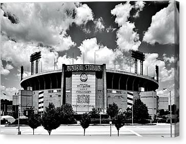 Memorial Stadium Canvas Print by Benjamin Yeager