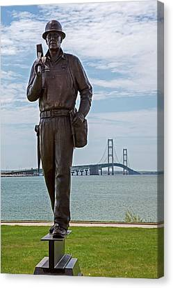 Memorial To Bridge Workers Canvas Print by Jim West