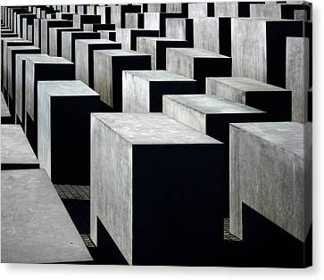 Memorial To The Murdered Jews Of Europe Canvas Print by RicardMN Photography