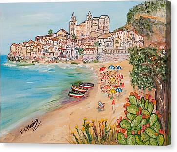 Canvas Print featuring the painting Memorie D'estate by Loredana Messina