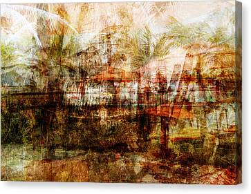 Canvas Print featuring the mixed media Memories #1 by Sandy MacGowan