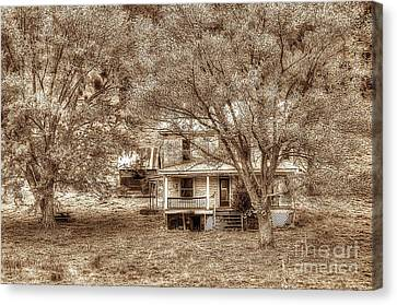 Memories Behind The Trees Canvas Print by Dan Friend