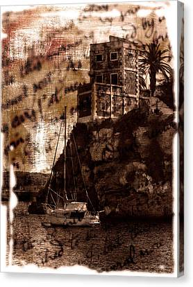 Memories By The Sea Canvas Print by Pedro Cardona