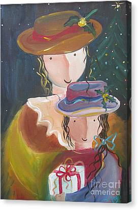 Canvas Print featuring the painting Memories by Nereida Rodriguez