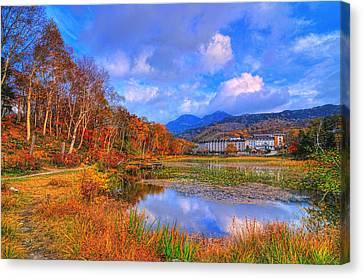 Memories Of Autumn Canvas Print by Midori Chan