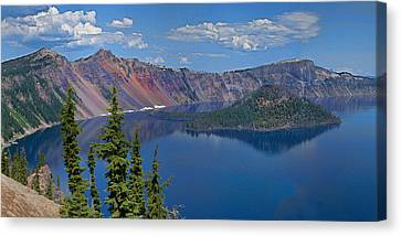 Memories Of Crater Lake Canvas Print by Daniel Hebard