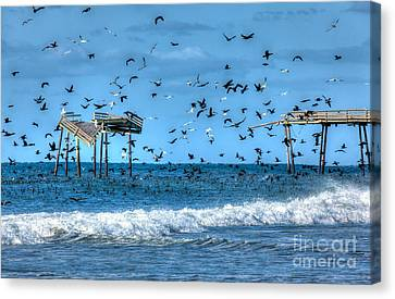 Memories Of Frisco Pier - Outer Banks I Canvas Print